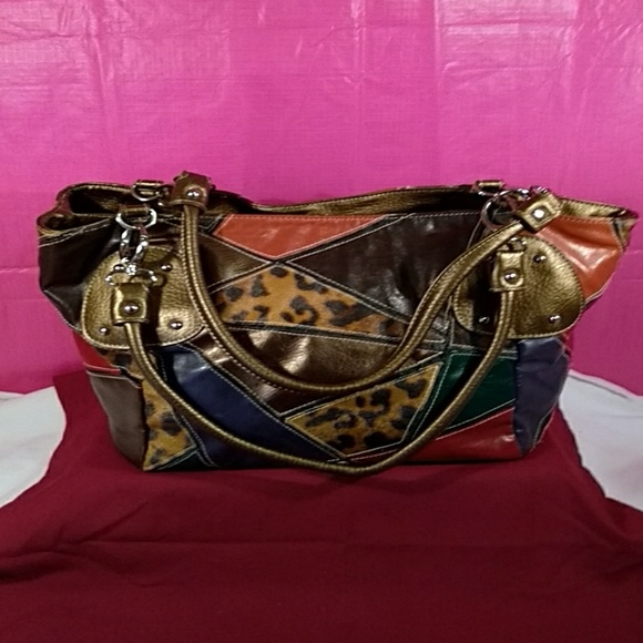 Bueno Handbags - Bueno Soft Large Multi Colored Shoulder Bag
